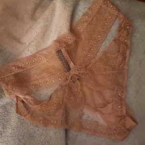 Victoria secret lace nude bare bottom sexy undies